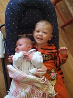 Look at me, I\'m the big brother!
