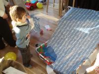 Max opening his birthday pressie