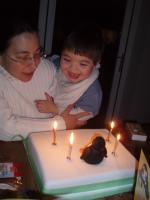 Max and his birthday cake