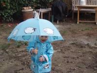Luca and his umbrella