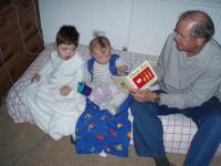 Grandpa reading a bedtime story