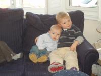 Luca and Marco on the sofa
